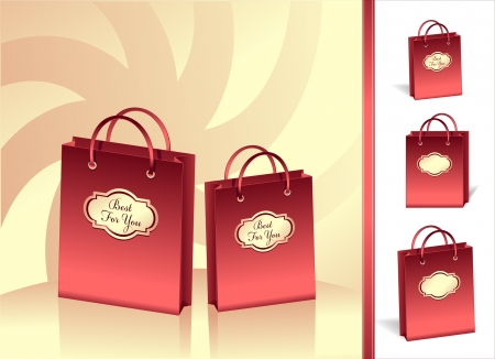 Gift packages best for you in red color Vector