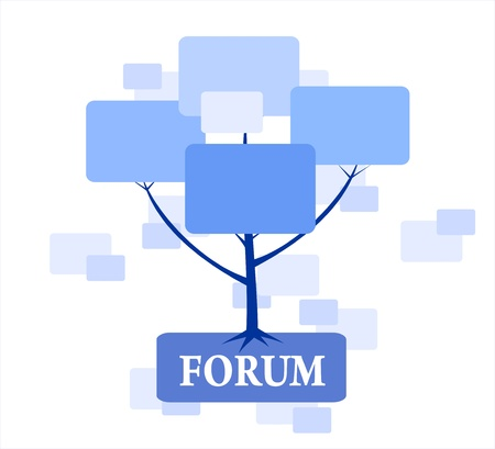 Forum Tree in blue color for web or site