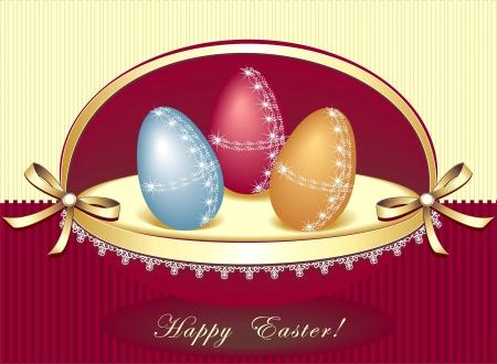 Easter eggs in beautiful box
