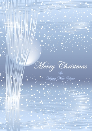 Winter Christmas and New Year abstract  light background Vector