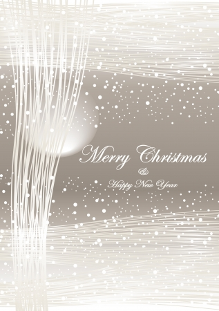 Winter Christmas and New Year abstract light  background  grey color or creative elegant postcard Vector