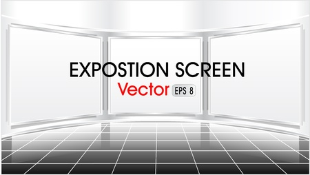 Exposition screen for advertising or presentation something