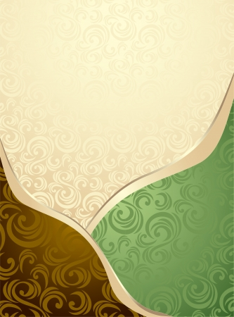 Abstract Seamless pattern or background green  and brown for advertising something