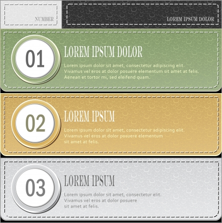 Set modern banners or template of  infographics in pastel colors for advertising or news Illustration