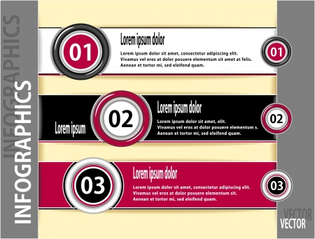 Set modern banners or template of  infographics for advertising or news Vector