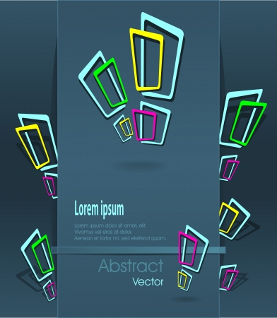 Creative Abstract background  with exclamation marks or windows or concept  ideas Vectores