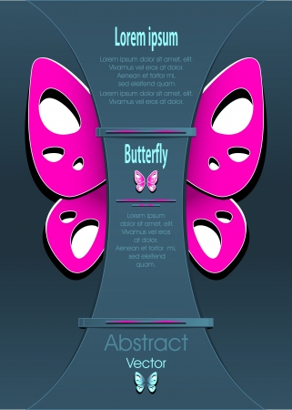 shop for animals: Modern Background with decorate butterfly for  advertising something Illustration