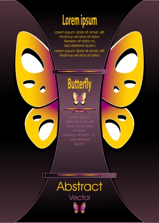 Modern Background with decorate butterfly for  advertising something Vector