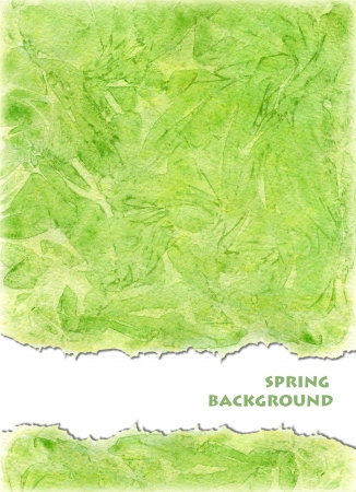 Watercolors background  in green yellow colors