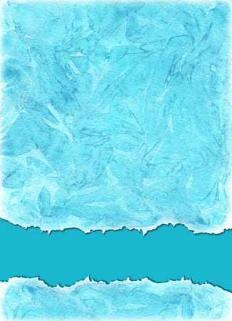 Watercolors background  in sea blue colors photo