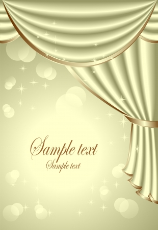 Background with light olive drapes Vector