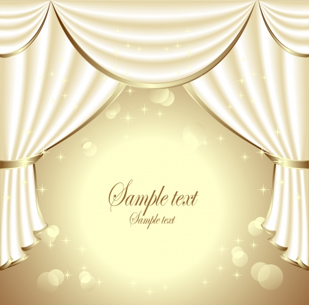 Background with light drapes Illustration