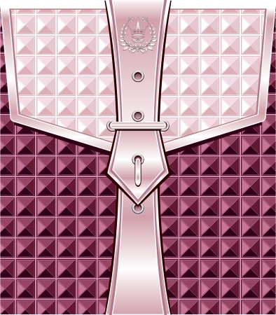 Background lilac pink with geometric seamless pattern belt fastener for packing or other things  Vector