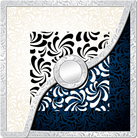 Background with Abstract Seamless pattern  for decoration of different things silver black white colors Vector