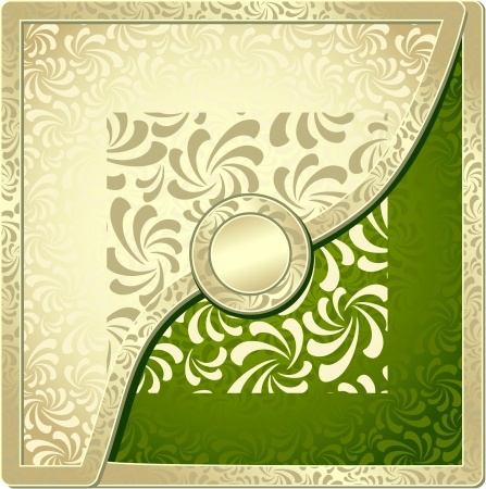 Background with Abstract Seamless pattern  for decoration of different things gold green olive colors Vector
