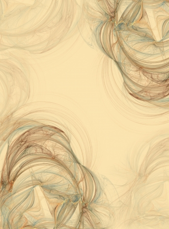 transmutation: Abstract fractal vintage background in beige brown  colors Stock Photo