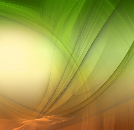 transmutation: Abstract fractal background in green yellow orange  colors Stock Photo