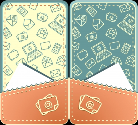 case sheet: Set seamless pattern  of email with envelope mobile phone notebook