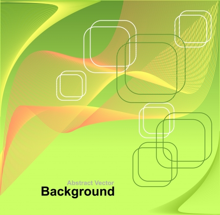 transparence: Abstract background in green orange yellow colors