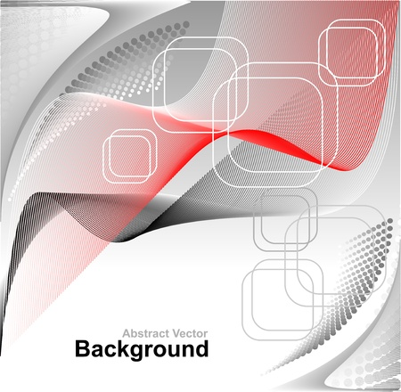 Modern Abstract digital background in red grey white colors for advertising something Vector