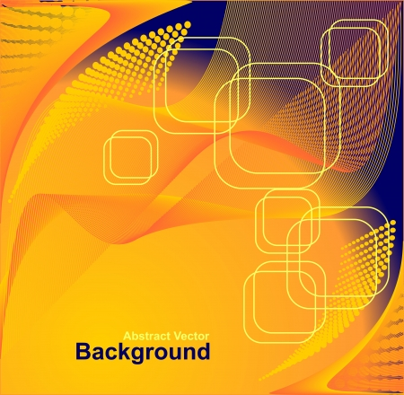 Abstract background in orange dark blue colors Vector