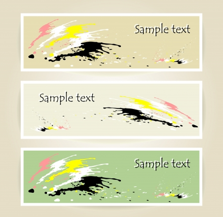 Set banners with spot of colors Stock Vector - 21787290