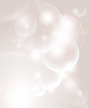 researches: Abstract background with bubbles and light