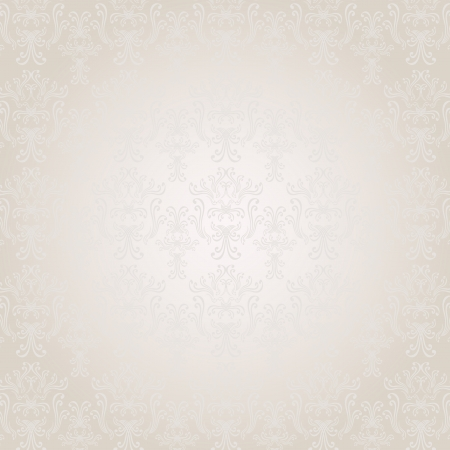 Seamless pattern in Victorian style light colors Vector