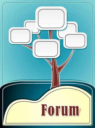 Forum tree or concept information marine background Vector