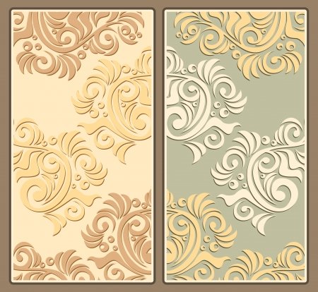 Two decorative background in pastel colors Vector