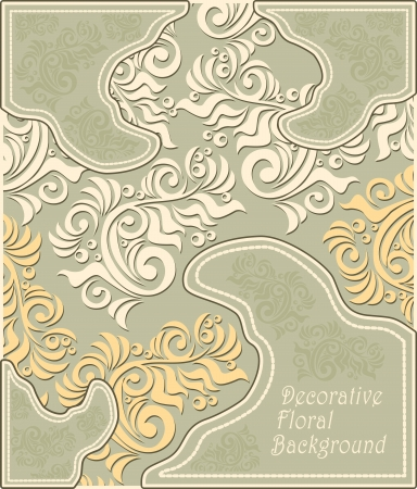 Decorative floral background in pastel colors Stock Vector - 23212522