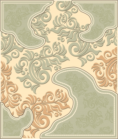Decorative floral background in pastel colors in antique style  Vector