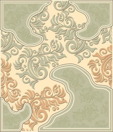 pastel colours: Fondo floral decorativo en colores pastel en estilo antiguo