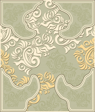 Decorative floral background in pastel colors Vector