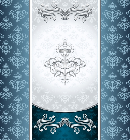 royal blue: Royal Victorian background with seamless pattern dark blue silver colors