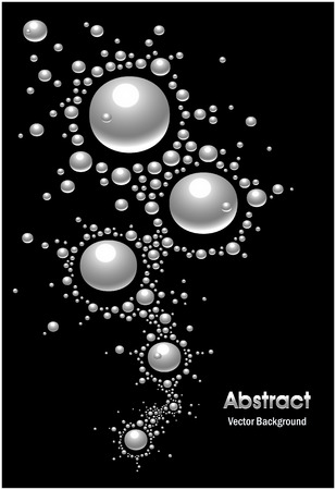 Abstract mercury Background silver  Vector