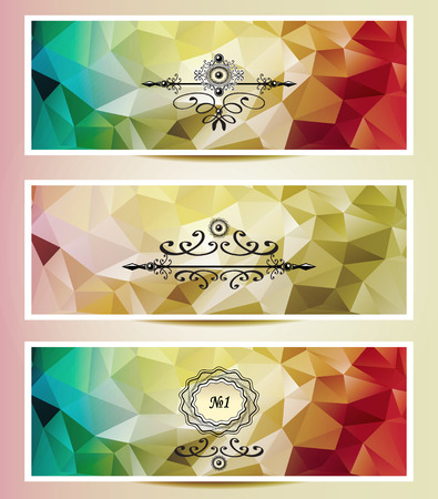 perfumer:  Abstract triangle banners  red yellow gold color