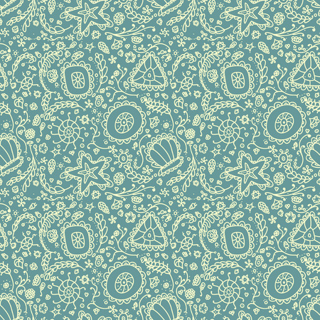 plankton: Patr�n transparente hecho a mano o de fondo con protozoos abstracto o plancton abstracto Vectores