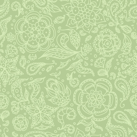 Seamless abstract floral pattern with flowers, petals, leaves, seeds, plants or olive background Vector