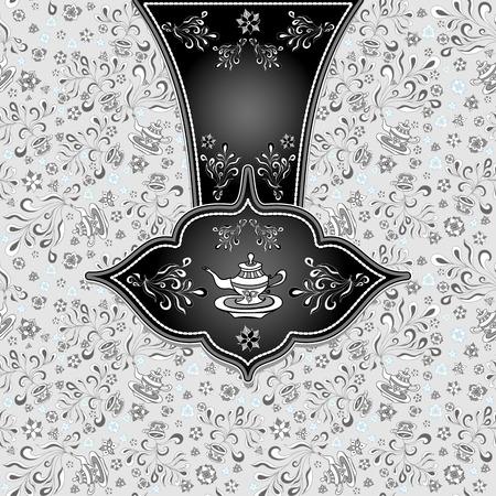 Hintergrund Mit Nahtlose Muster In Doodle-Stil Für Werbung Tea Oder ...