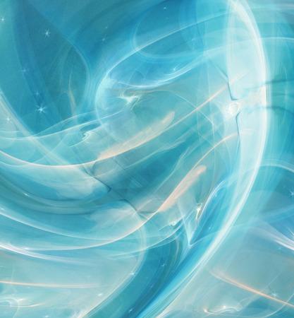 metamorphosis: Abstract Fractal background cosmic light ice blue