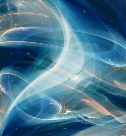 metamorphosis: Abstract Fractal background cosmic light dark blue