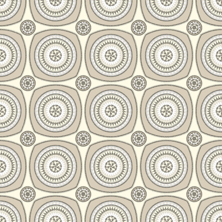 Seamless pattern with circle ornament  in beige colors and Antique style for decorate different things photo