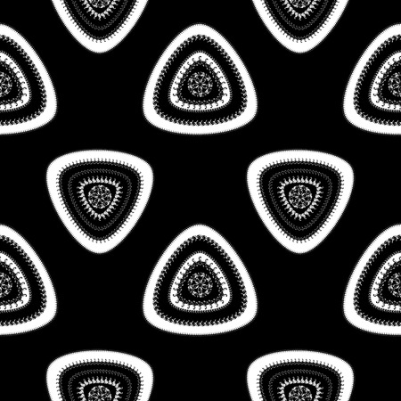 Abstract Seamless pattern with triangle in black white dark and  in  Ethnic style for decorate different things photo