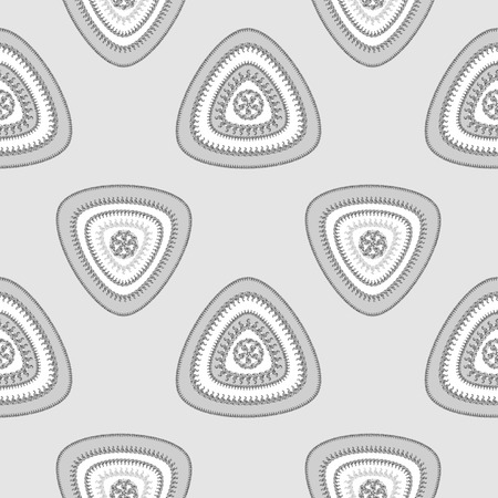 Abstract Seamless pattern with triangle in grey silver and  in  Ethnic style for decorate different things