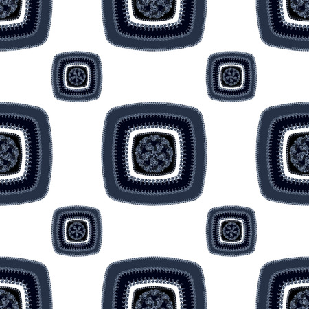 Abstract Seamless pattern with square on white   in  Ethnic style for decorate different things photo