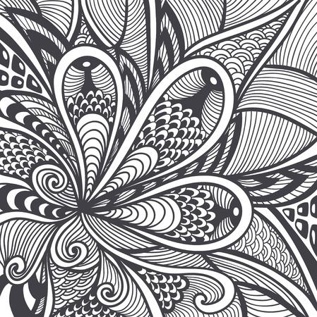 Resumen Patrón O Textura En El Zen-enredo Estilo Zen-doodle Negro En ...