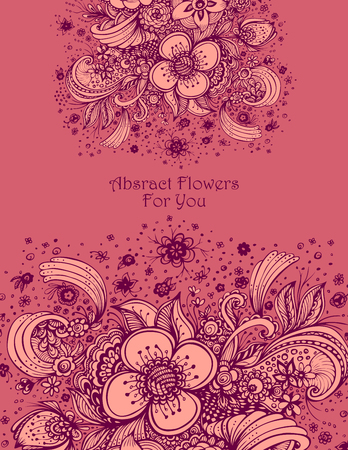 Template with abstract flowers bouquet of roses ornaments for sale