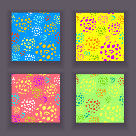 Set of colorful abstract patterns.