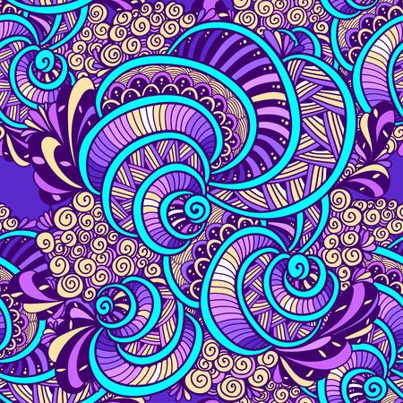 Bunte Gekritzelkunstdesign-Textilillustration